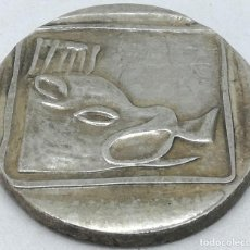Monedas Grecia Antigua: RÉPLICA MONEDA LYTTOS, CRETA. 1 ESTÁTERA. GRECIA. 320 ANTES DE CRISTO. TORO Y PALOMA. Lote 210964977