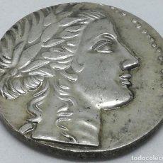 Monedas Grecia Antigua: RÉPLICA MONEDA MILETO. 1 TETRADRACMA. GRECIA. SIGLO II ANTES DE CRISTO. APOLO Y LEÓN. Lote 210965144