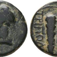 Monedas Grecia Antigua: LIDIA. TRIPOLI. LYDIA. TRIPOLIS. LIVIA (AUGUSTA, 14-29). AE BRONCE. MBC/MBC+ ΣEBAΣTH CABEZA DE LIVIA. Lote 213923045