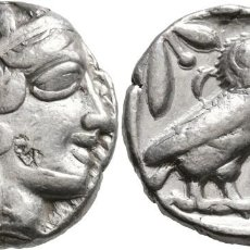 Monedas Grecia Antigua: (ATTICA) ÁTICA. TETRADRACMA. 420-404 A.C. ATENAS. BÚHO (PLATA, 24 MM, 17,07 G, 8 H). EBC-. ESCASO. Lote 214637490