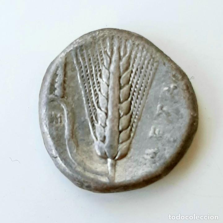 Monedas Grecia Antigua: Estátera-Stater Metapontium circa 340-330 - Foto 3 - 214467456