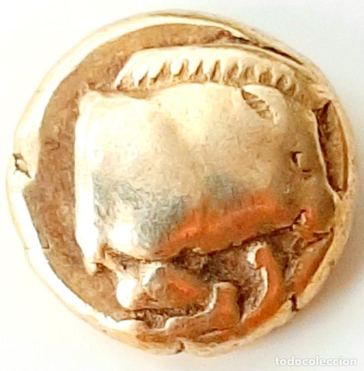 """Monedas Grecia Antigua: 1/6 Estátera-Stater (Hekte) Electro Mytilene circa454-427 a.c. Jabalí """"encabritado""""-León """"rugiendo"""". - Foto 3 - 214649617"""