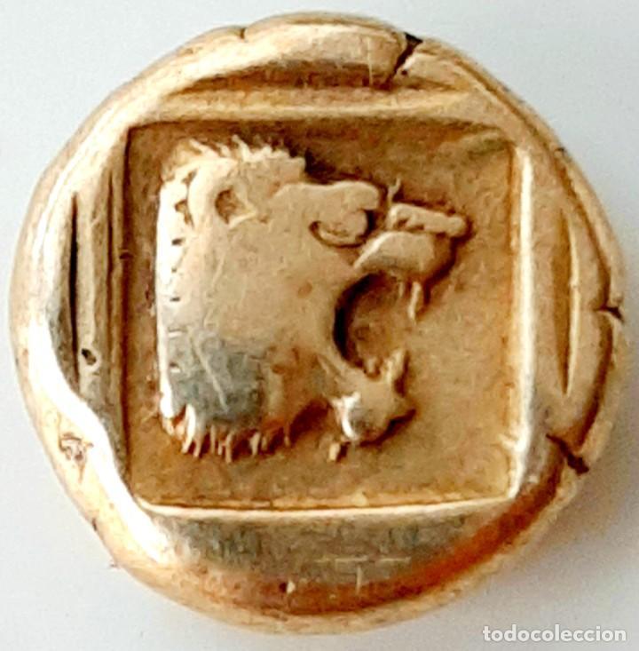 """Monedas Grecia Antigua: 1/6 Estátera-Stater (Hekte) Electro Mytilene circa454-427 a.c. Jabalí """"encabritado""""-León """"rugiendo"""". - Foto 4 - 214649617"""