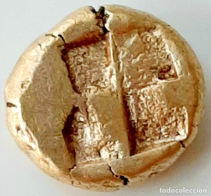 """Monedas Grecia Antigua: 1/6 Estátera-Stater (Hekte) Electro Phokaia circa 521-478 a.c. León """"sobre presa"""". - Foto 5 - 214653250"""