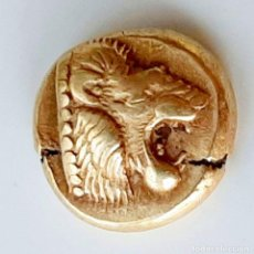 "Monedas Grecia Antigua: 1/6 ESTÁTERA-STATER (HEKTE) ELECTRO MYTILENE CIRCA 521-478 A.C. LEÓN ""RUGIENDO""-TERNERO. Lote 214657126"