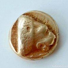Monedas Grecia Antigua: 1/6 ESTÁTERA-STATER (HEKTE) ELECTRO MYTILENE CIRCA 478-455 A.C. LEÓN-BUEY INCUSO. Lote 214660771