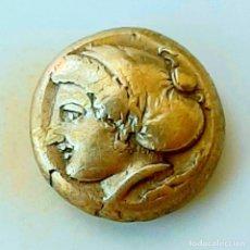 """Monedas Grecia Antigua: 1/6 ESTÁTERA-STATER (HEKTE) ELECTRO PHOKAIA CIRCA 478-387 A.C. NINFA CON """"SAKKOS"""". Lote 214930046"""
