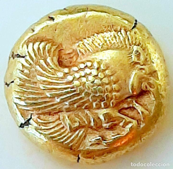 """Monedas Grecia Antigua: 1/6 Estátera-Stater (Hekte) Electro Mytilene circa 521-478 a.c. Jabalí Alado-León incuso """"rugiendo"""". - Foto 3 - 214631646"""