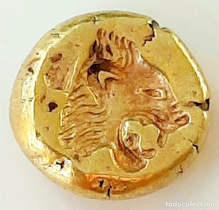 """Monedas Grecia Antigua: 1/6 Estátera-Stater (Hekte) Electro Mytilene circa 521-478 a.c. Jabalí Alado-León incuso """"rugiendo"""". - Foto 4 - 214631646"""