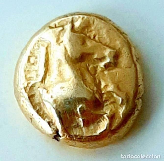 "1/6 ESTÁTERA-STATER (HEKTE) ELECTRO PHOKAIA? CA. 600-550 A.C. CABALLO ""ENCABRITADO. UNPUBLISHED (Numismática - Periodo Antiguo - Grecia Antigua)"