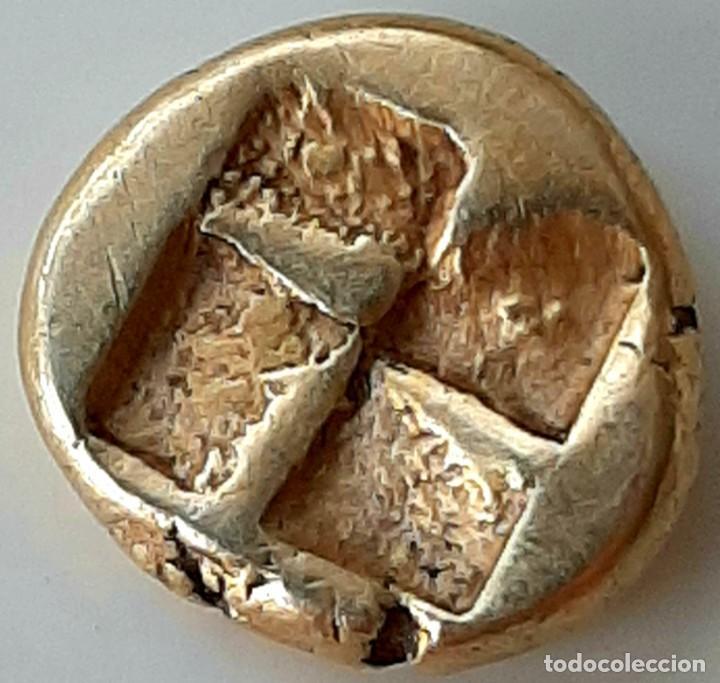 "Monedas Grecia Antigua: 1/6 Estátera-Stater (Hekte) Electro Phokaia? ca. 600-550 a.c. Caballo ""encabritado. Unpublished - Foto 4 - 214645151"