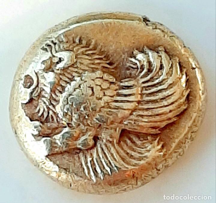 """Monedas Grecia Antigua: 1/6 Estátera-Stater (Hekte) Electro Mytilene circa 521-478 a.c. León alado """"rugiendo""""-Gayo - Foto 3 - 214665797"""