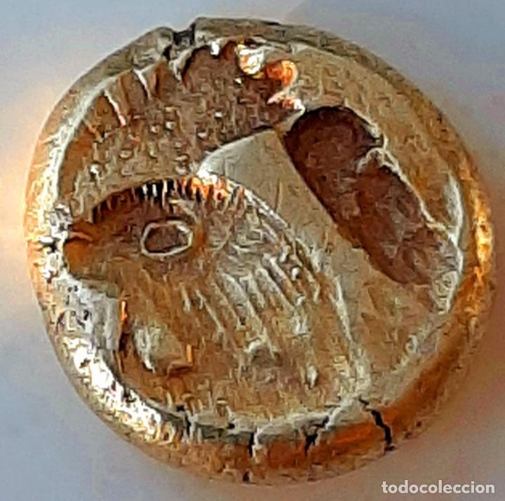 """Monedas Grecia Antigua: 1/6 Estátera-Stater (Hekte) Electro Mytilene circa 521-478 a.c. León alado """"rugiendo""""-Gayo - Foto 4 - 214665797"""