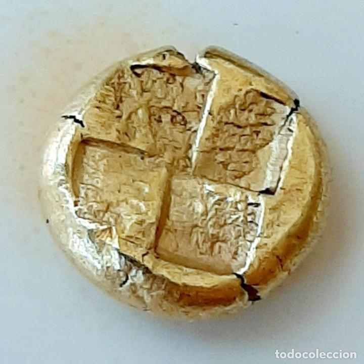 """Monedas Grecia Antigua: 1/6 Estátera-Stater (Hekte) Electro Kyzicos circa 500-450 a.c. Perséfone """"circunscrita"""". Unpublished - Foto 2 - 214782347"""