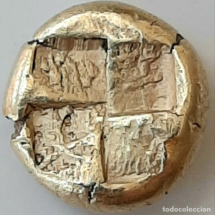 """Monedas Grecia Antigua: 1/6 Estátera-Stater (Hekte) Electro Kyzicos circa 500-450 a.c. Perséfone """"circunscrita"""". Unpublished - Foto 5 - 214782347"""