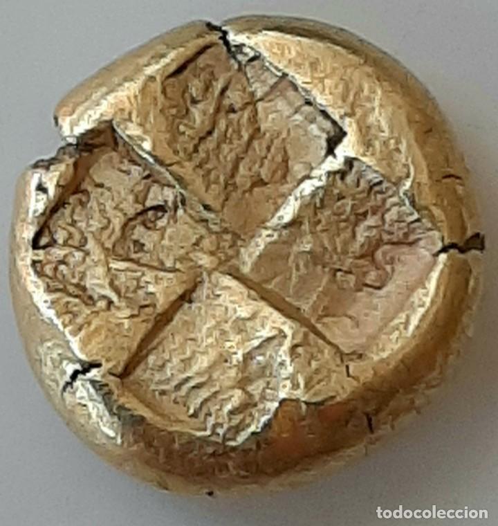 """Monedas Grecia Antigua: 1/6 Estátera-Stater (Hekte) Electro Kyzicos circa 500-450 a.c. Perséfone """"circunscrita"""". Unpublished - Foto 6 - 214782347"""