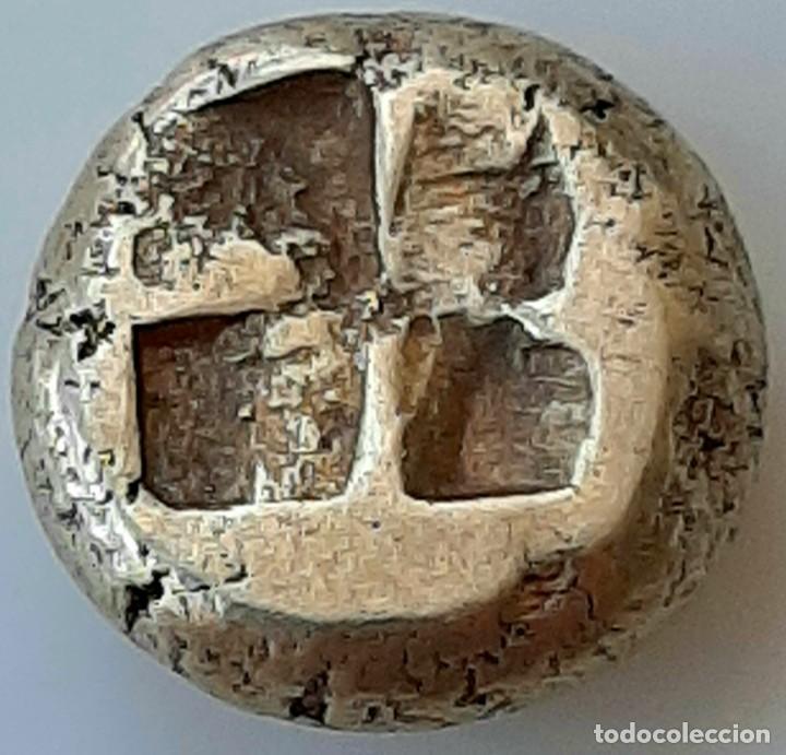 "Monedas Grecia Antigua: 1/6 Estátera-Stater (Hekte) Electro Phokaia circa 478-387 a.c. Ninfa con ""sphendone"" - Foto 6 - 214815583"
