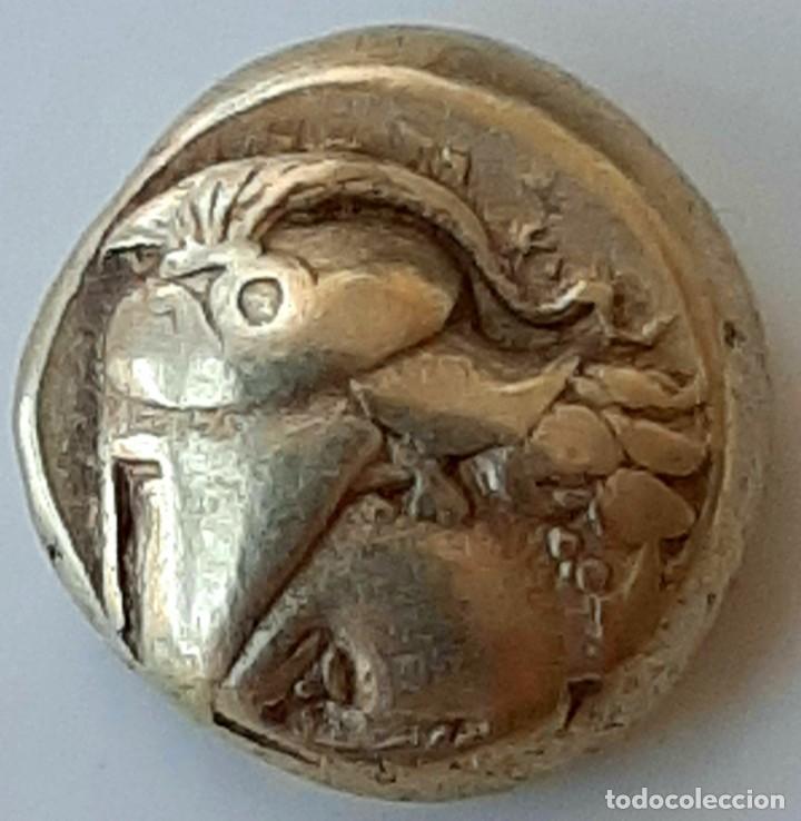 Monedas Grecia Antigua: 1/6 Estátera-Stater (Hekte) Electro Phokaia circa 387-326 a.c. Atenea - Foto 5 - 214820306