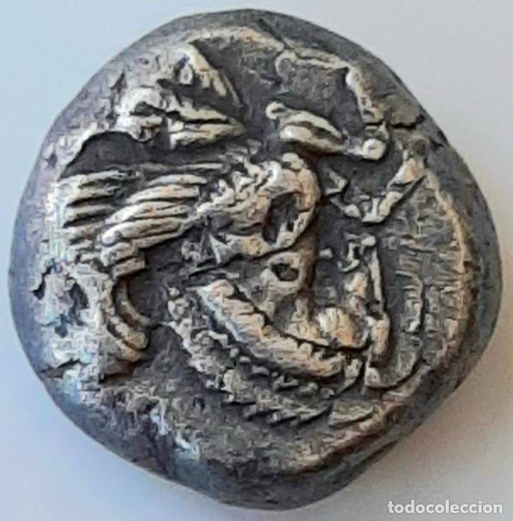 Monedas Grecia Antigua: 1/6 Estátera-Stater (Hekte) Electro Lampsakos circa 500-450 a.c. Unpublished - Foto 7 - 214805168