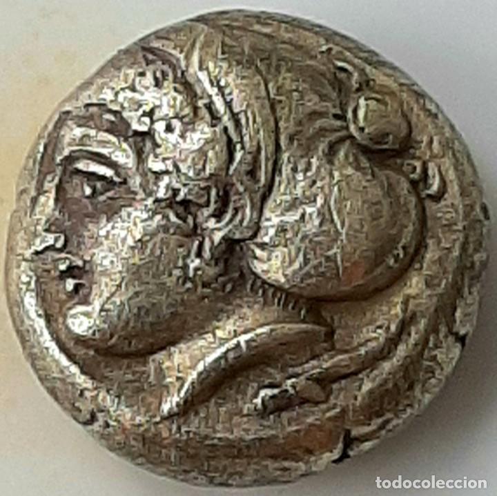 """Monedas Grecia Antigua: 1/6 Estátera-Stater (Hekte) Electro Phokaia circa 387-326 a.c. Ninfa con """"sakkos"""" - Foto 3 - 214827963"""