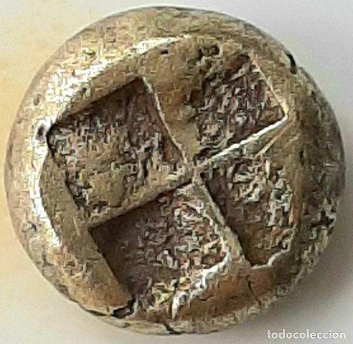 """Monedas Grecia Antigua: 1/6 Estátera-Stater (Hekte) Electro Phokaia circa 387-326 a.c. Ninfa con """"sakkos"""" - Foto 4 - 214827963"""