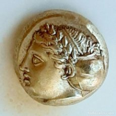 "Monedas Grecia Antigua: 1/6 ESTÁTERA-STATER (HEKTE) ELECTRO PHOKAIA CIRCA 387-326 A.C. NINFA CON ""SPHENDONE"". Lote 214937531"