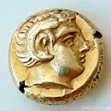 Monedas Grecia Antigua: 1/6 ESTÁTERA-STATER (HEKTE) ELECTRO MYTILENE CIRCA 375-325 A.C. APOLO KARNEIOS-ÁGUILA. Lote 214921806