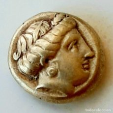 "Monedas Grecia Antigua: 1/6 ESTÁTERA-STATER (HEKTE) ELECTRO MYTILENE CIRCA 376-326 A.C. PERSÉFONE-TORO ""EMBISTIENDO"". Lote 214923012"