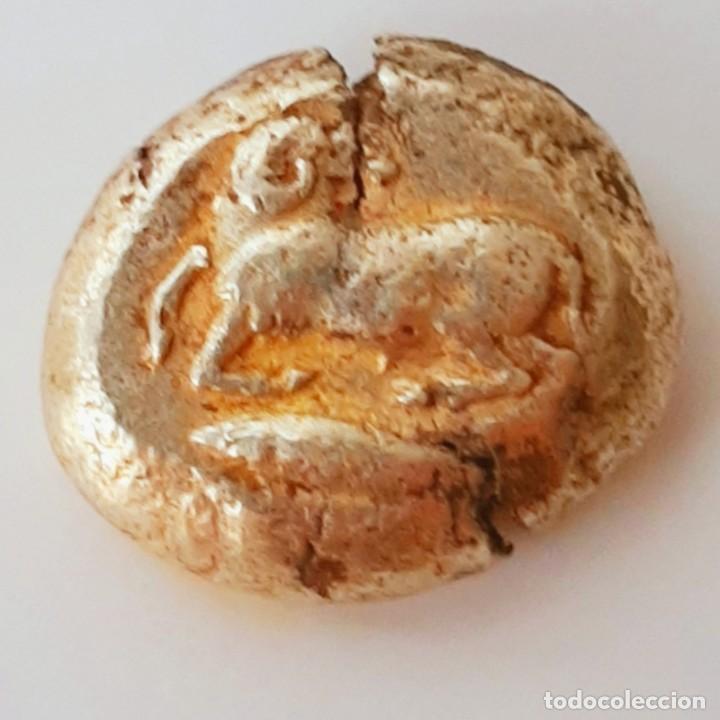 ESTÁTERA-STATER ELECTRO KYZICOS CIRCA 550-500 A.C. CARNERO SOBRE ATÚN (Numismática - Periodo Antiguo - Grecia Antigua)