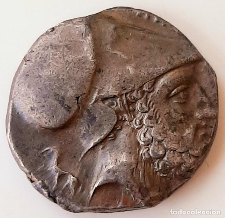 Monedas Grecia Antigua: Estátera-Stater Metapontium circa 340-330 a.c. Grafitti - Foto 4 - 214486672