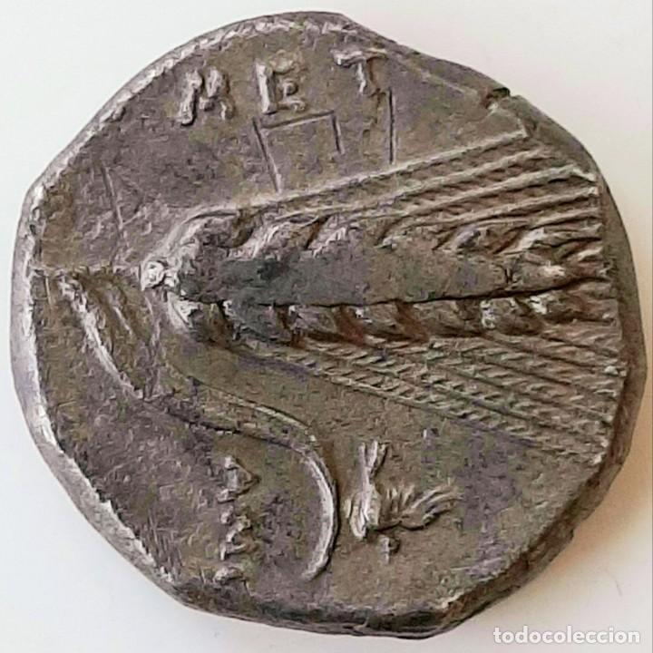 Monedas Grecia Antigua: Estátera-Stater Metapontium circa 340-330 a.c. Grafitti - Foto 5 - 214486672
