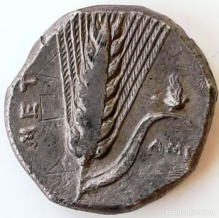 Monedas Grecia Antigua: Estátera-Stater Metapontium circa 340-330 a.c. Grafitti - Foto 6 - 214486672