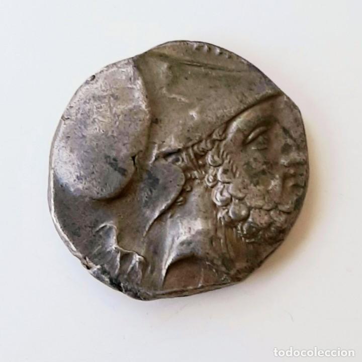 Monedas Grecia Antigua: Estátera-Stater Metapontium circa 340-330 a.c. Grafitti - Foto 7 - 214486672