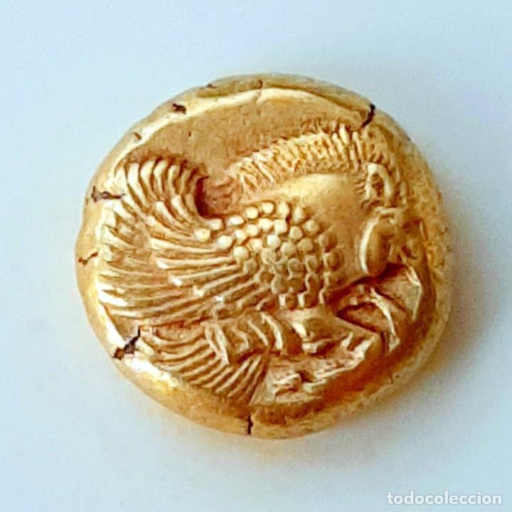 """Monedas Grecia Antigua: 1/6 Estátera-Stater (Hekte) Electro Mytilene circa 521-478 a.c. Jabalí Alado-León incuso """"rugiendo"""". - Foto 5 - 214631646"""