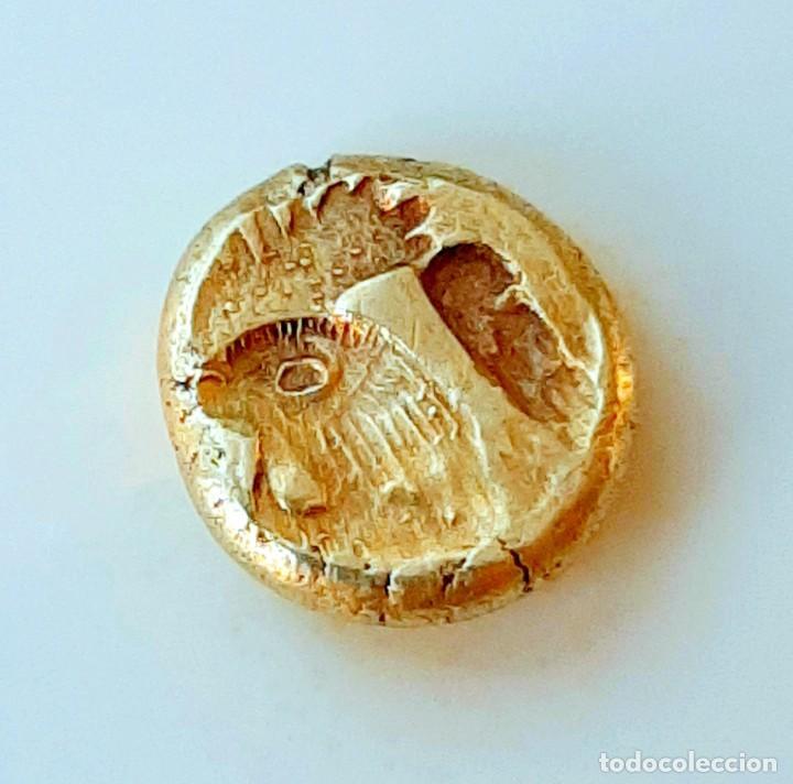 """Monedas Grecia Antigua: 1/6 Estátera-Stater (Hekte) Electro Mytilene circa 521-478 a.c. León alado """"rugiendo""""-Gayo - Foto 6 - 214665797"""