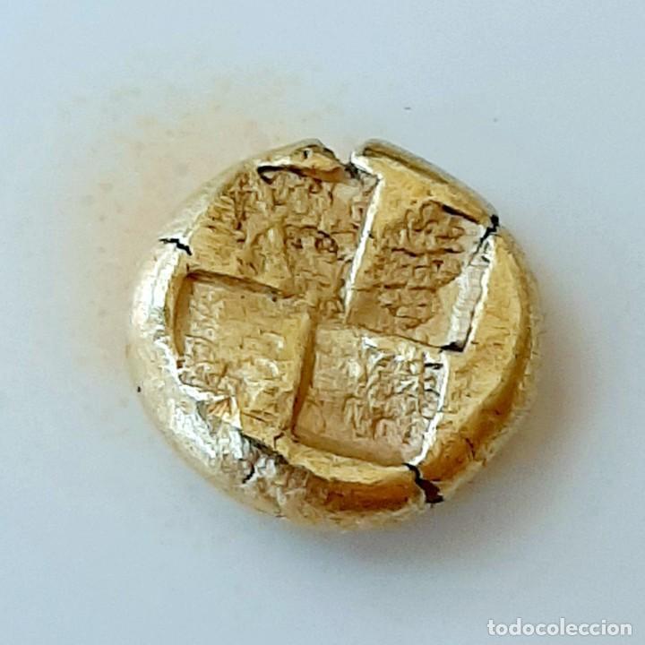 """Monedas Grecia Antigua: 1/6 Estátera-Stater (Hekte) Electro Kyzicos circa 500-450 a.c. Perséfone """"circunscrita"""". Unpublished - Foto 8 - 214782347"""
