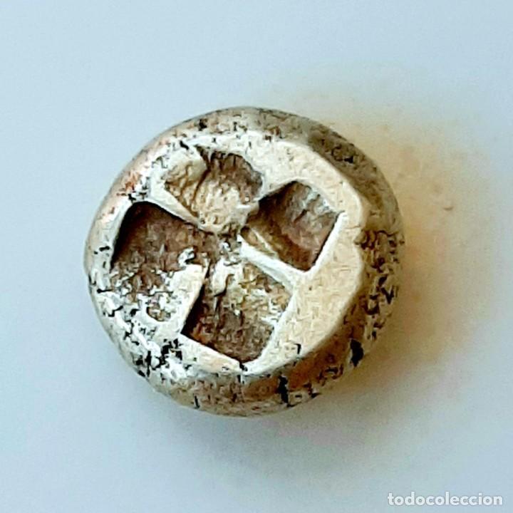"Monedas Grecia Antigua: 1/6 Estátera-Stater (Hekte) Electro Phokaia circa 478-387 a.c. Ninfa con ""sphendone"" - Foto 14 - 214815583"