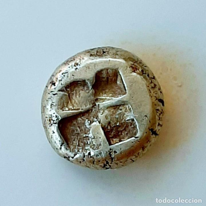 "Monedas Grecia Antigua: 1/6 Estátera-Stater (Hekte) Electro Phokaia circa 478-387 a.c. Ninfa con ""sphendone"" - Foto 15 - 214815583"