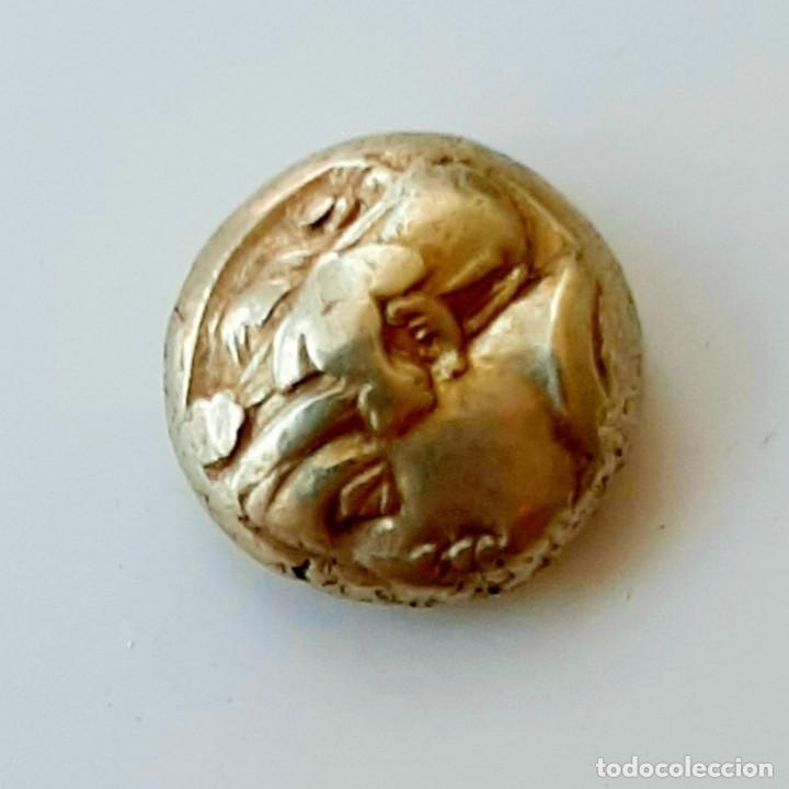 "Monedas Grecia Antigua: 1/6 Estátera-Stater (Hekte) Electro Phokaia circa 478-387 a.c. Ninfa con ""sphendone"" - Foto 17 - 214815583"