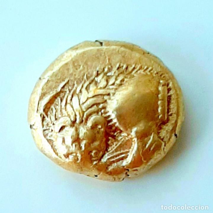 """Monedas Grecia Antigua: 1/6 Estátera-Stater (Hekte) Electro Phokaia circa 521-478 a.c. León """"sobre presa"""". - Foto 6 - 214653250"""