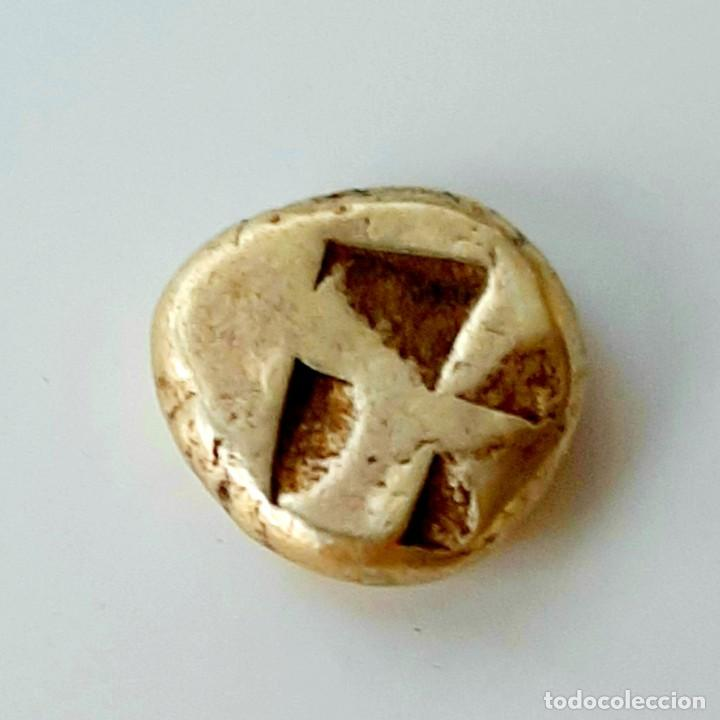 Monedas Grecia Antigua: 1/6 Estátera-Stater (Hekte) Electro Kyzicos circa 550-500 a.c. Esfinge - Foto 7 - 214788962