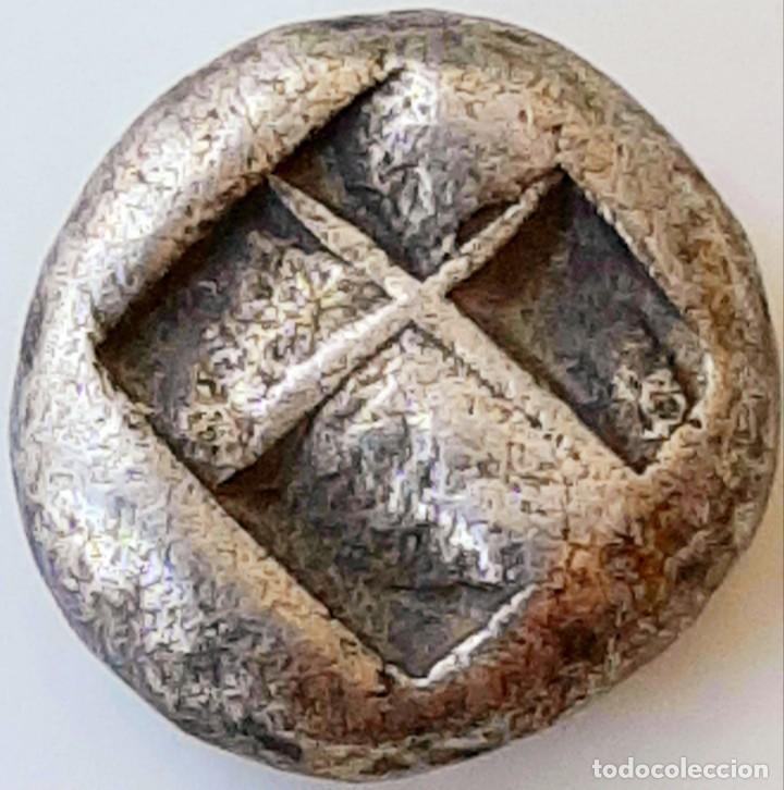 Monedas Grecia Antigua: 1/6 Estátera-Stater (Hekte) Electro Lampsakos? circa 500-450 a.c. - Foto 8 - 214798947