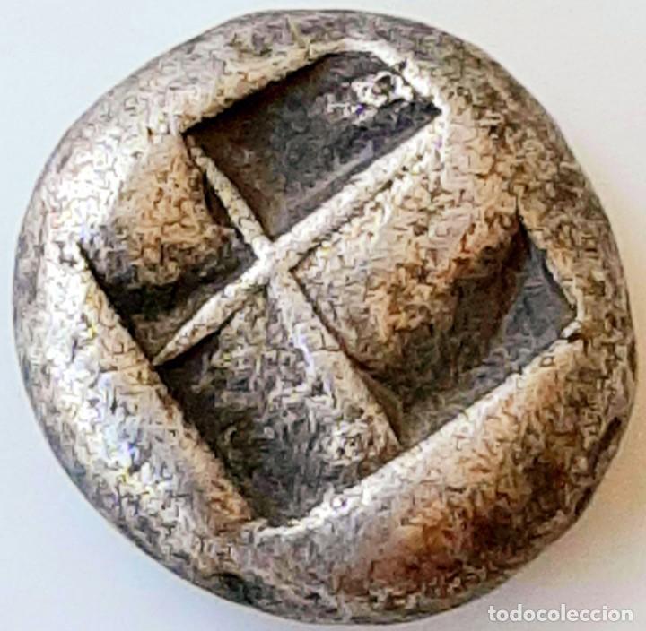 Monedas Grecia Antigua: 1/6 Estátera-Stater (Hekte) Electro Lampsakos? circa 500-450 a.c. - Foto 9 - 214798947