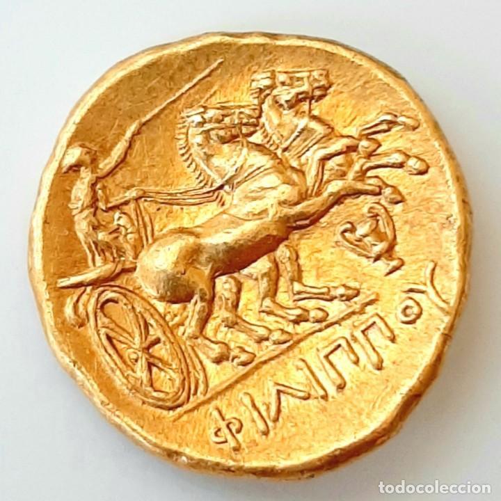 Monedas Grecia Antigua: Estátera-Stater Oro Filipo II circa 340-328 a.c. Pella - Foto 2 - 214769715