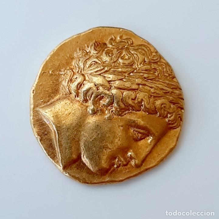 Monedas Grecia Antigua: Estátera-Stater Oro Filipo II circa 340-328 a.c. Pella - Foto 3 - 214769715