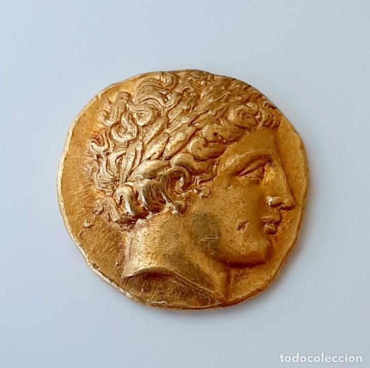 Monedas Grecia Antigua: Estátera-Stater Oro Filipo II circa 340-328 a.c. Pella - Foto 5 - 214769715