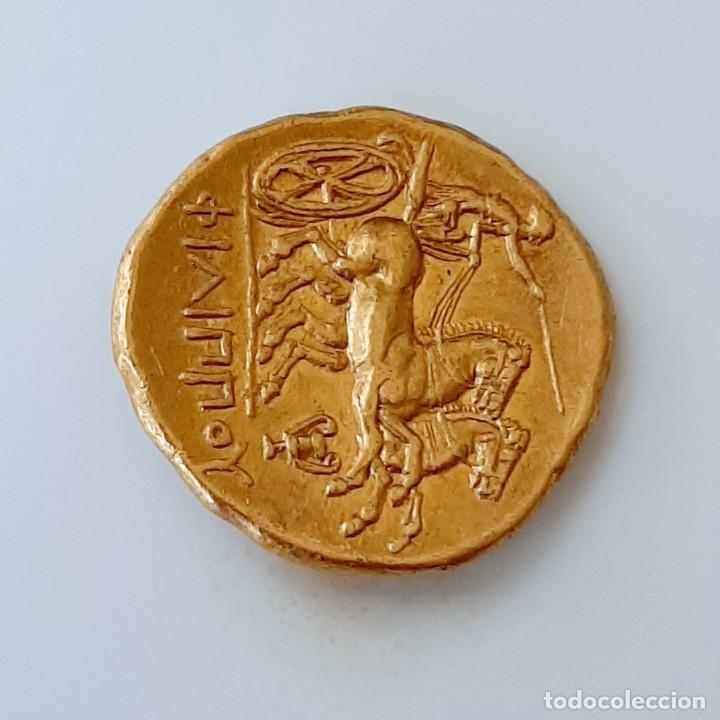 Monedas Grecia Antigua: Estátera-Stater Oro Filipo II circa 340-328 a.c. Pella - Foto 8 - 214769715