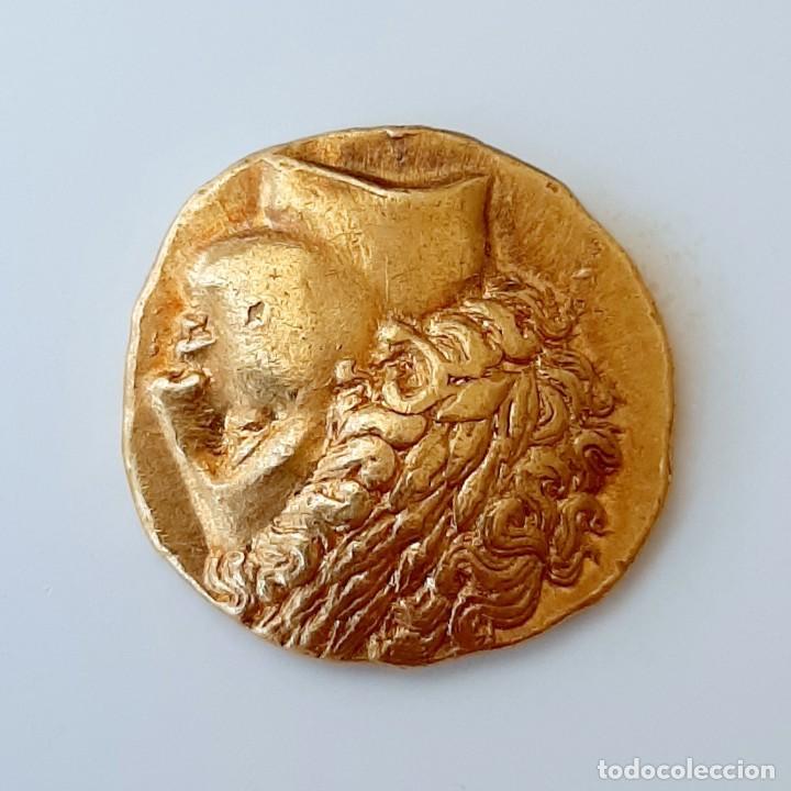 Monedas Grecia Antigua: Estátera-Stater Oro Filipo II circa 340-328 a.c. Pella - Foto 9 - 214769715