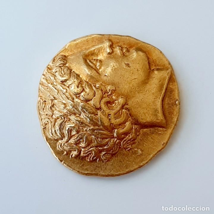 Monedas Grecia Antigua: Estátera-Stater Oro Filipo II circa 340-328 a.c. Pella - Foto 11 - 214769715