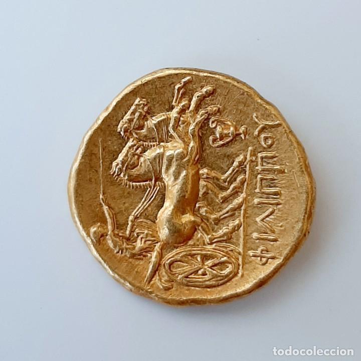 Monedas Grecia Antigua: Estátera-Stater Oro Filipo II circa 340-328 a.c. Pella - Foto 12 - 214769715